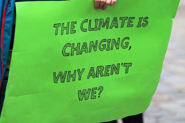 Anglický plakát klima se mění, proč ne my.